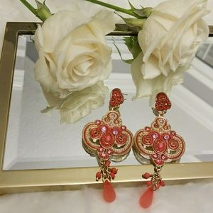 Moroccan Asian style dangling earrings