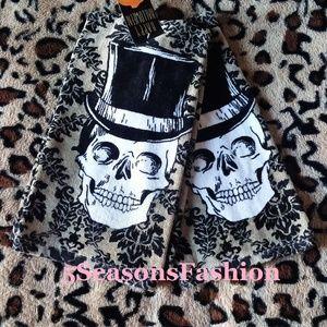 Other - Skull Top Hat Kitchen Towels Halloween Decor