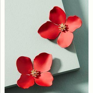Anthropologi Wilde flower post earring