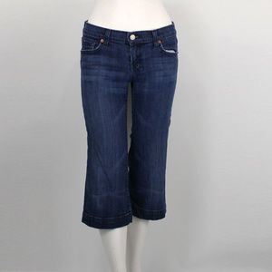 Seven For All Mankind Cropped Dojo Jeans- 26 Waist