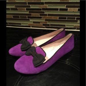Purple Suede Flats Size 10