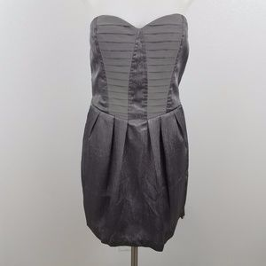 BCBGeneration Strapless Cocktail Dress Gray