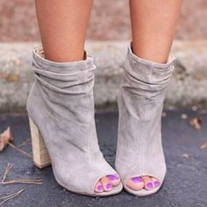 Chinese Laundry Break Up Peep toe Booties