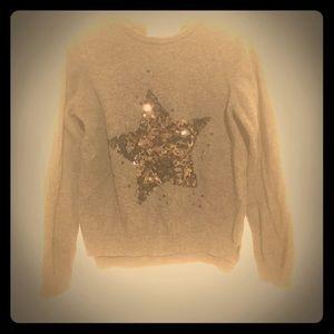 Girls sequin star sweater