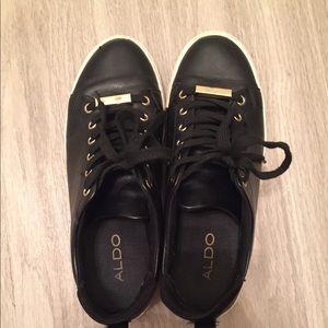 ALDO Black Gold Sneakers