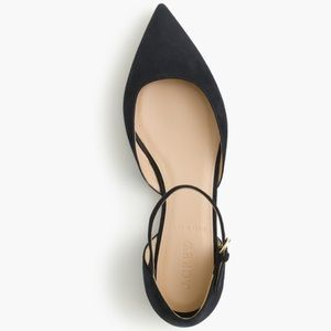 J.crew Lily suede flats
