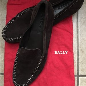 Brown Bally loafers size 11.5