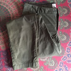 NWOT!! Olive green cotton chinos