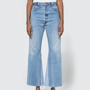 8ff06edc5603 Re Done Jeans - •RE DONE• Originals HighRise Crop Flare Jeans