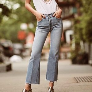 01468a27be397 Re Done Jeans - •RE DONE• Originals HighRise Crop Flare Jeans