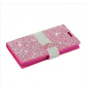Pink sparkly wallet/phone case
