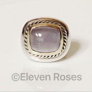 David Yurman Large 925 14k Chalcedony Albion Ring