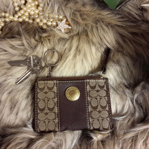 Super Coach Key Ring Coin ID Case Wallet case