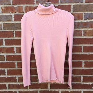 Ralph Lauren Pink Turtleneck Sweater Small