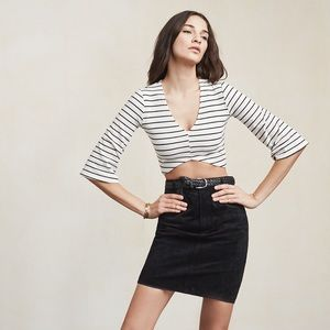 Reformation Laurie crop top-S