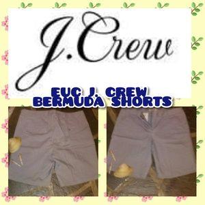 🌟✨🌟EUC J.CREW SIZE 6 GREY BERMUDA SHORTS ✨🌟✨