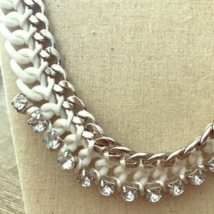 Express Sparkle White Chain Link Necklace