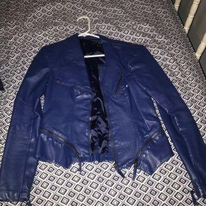 BLANK Moto jacket blue