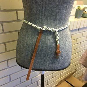 Cotton rope belt