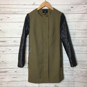 H&M Utility Green Coat Jacket