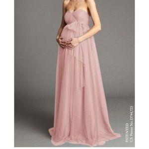 Jenny Yoo Cameo Pink Serafina Maternity Dress