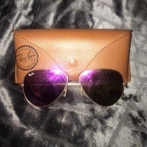 RayBan Pink Flash Sunglasses