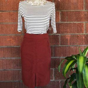Ann Taylor rustic orange 🍊 pencil skirt