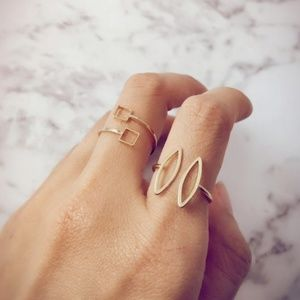 Delicate Gold Plated Minimalist Rings