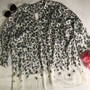 Jaclyn Smith cheetah print glitter tunic blouse