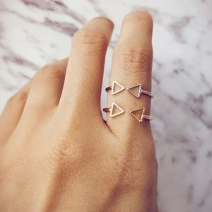 Delicate Triangle Geometric Ring