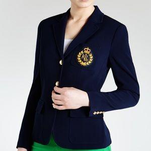 5e3a95f9a51 Ralph Lauren Jackets   Coats - LAUREN RALPH LAUREN NAVY BLUE WOOL CRESTED  BLAZER