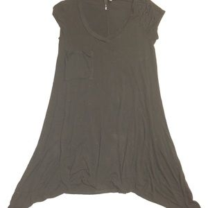 UltraFlirt sideways hi-lo  loose pocket boho dress