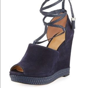 Michael Kors Hastings Lace-Up Suede Wedge