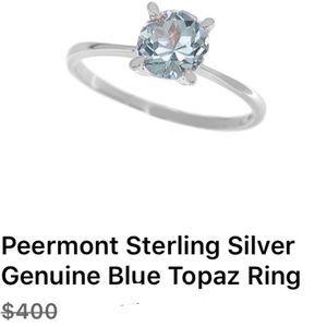 Peermont gorgeous blue topaz sz 7