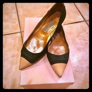 Black and nude suede Jimmy choo Flats