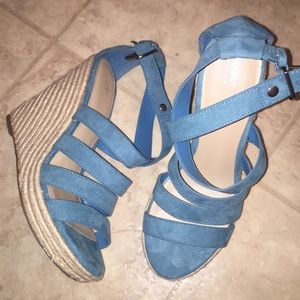 Cute turquoise wedges