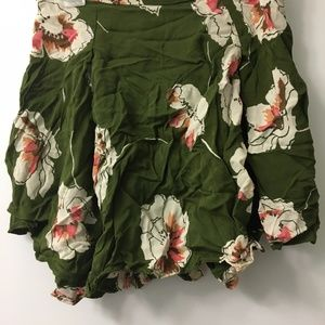Green floral skater skirt from Urban Outfitters