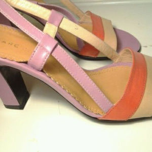 MARC JACOBS PATENT LEATHER Sandals Heels 7.5