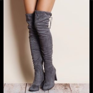 Shoes - Gorgeous vegan suede over the knee boots