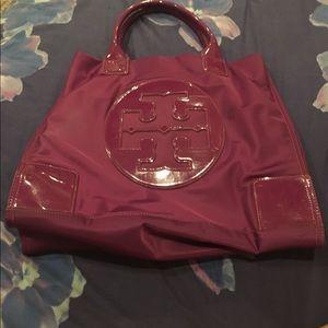 Authentic Purple Tory Burch Handbag