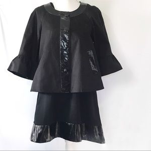 VINTAGE SANDRO SPORT MOD 90S SWING COAT/ DRESS M