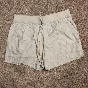 Size 14 Elastic Waist & Tie Cream Color Shorts