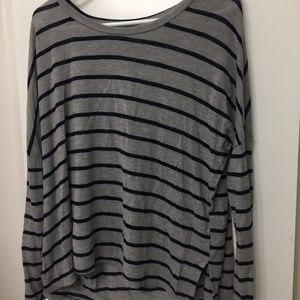 Stripe Grey and Navy Long Sleeve