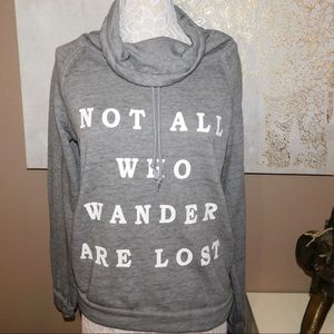 NOT ALL WHO WANDER WUOTE SWEATER!!!!👌🏽👌🏽
