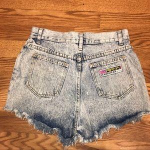 Women's Vintage Acid Wash High Waisted Shorts 11