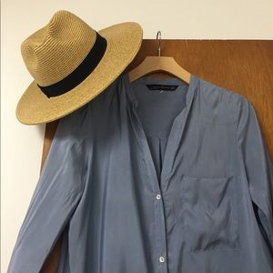 NWOT Zara silk long dress kimono duster XS