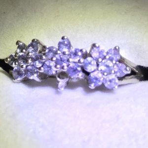 AA Tanzanite Floral 925 ring
