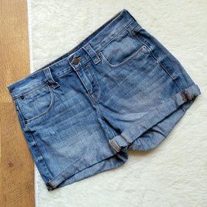 J. Crew Factory Blue Jean Cuffed Shorts