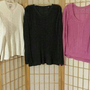 Sweaters - Bundle of 3 sweaters sz 1 L / 2 XL