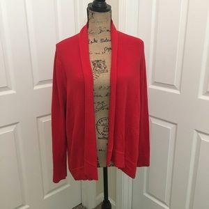 GAP Red Draped Cotton/Cashmere Cardigan